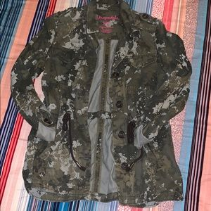 floral camo utility jacket